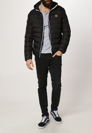 BASIC BUBBLE JACKET - Talvitakki - black/white/black