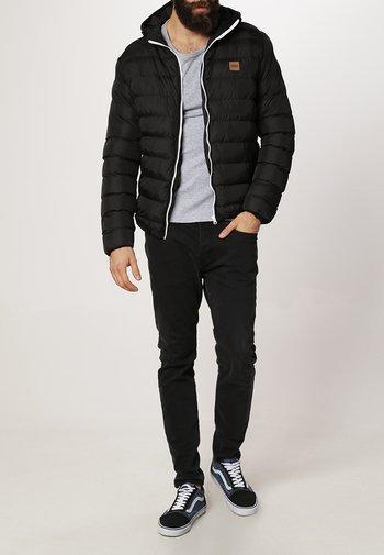 BASIC BUBBLE JACKET - Winter jacket - black/white/black