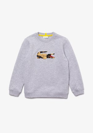 LACOSTE X NATIONAL GEOGRAPHIC - Sweatshirt - gris chine / blanc