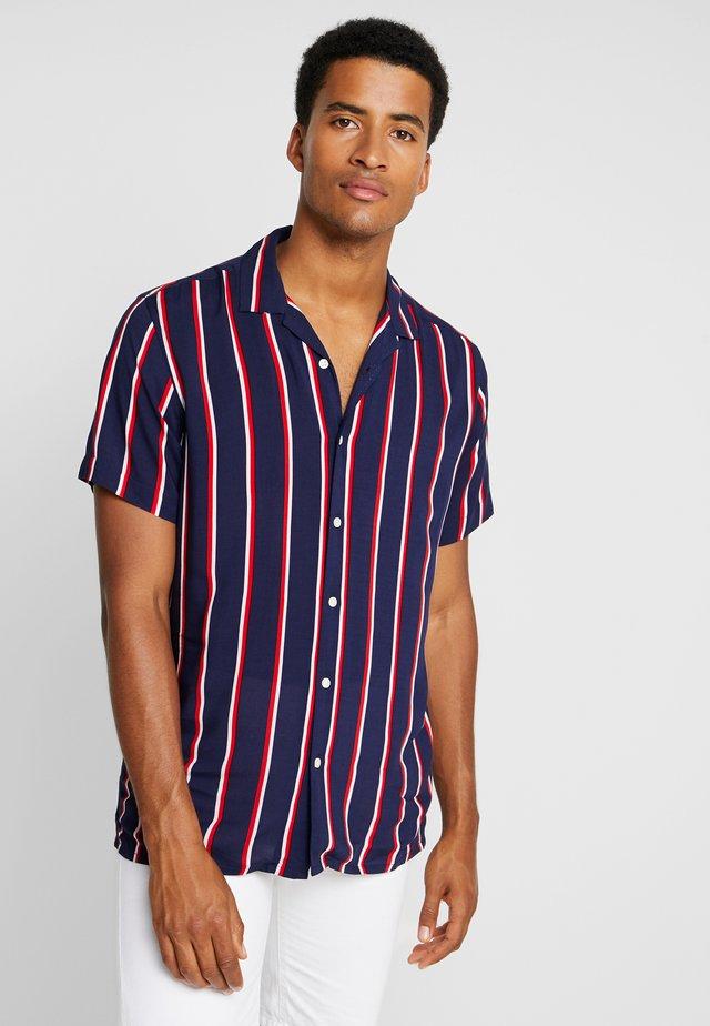 STRIPE BOWLING - Shirt - dark blue