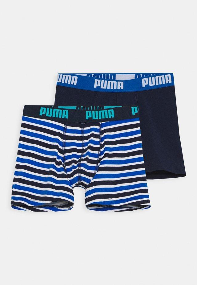 BOYS BASIC BOXER PRINTED STRIPE 2 PACK - Pants - blue