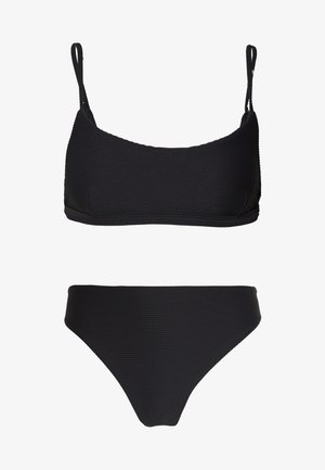 ESSENTIALSBRALETTE HIGH RISE SET - Bikini top - black