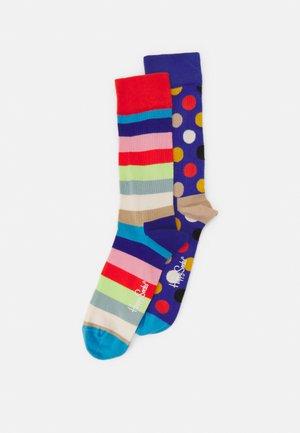 STRIPE BIG DOT 2 PACK UNISEX - Ponožky - multi