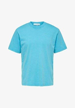 SLHRELAXHERB O NECK TEE - Basic T-shirt - horizon blue