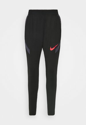 Tracksuit bottoms - black/dark raisin/siren red