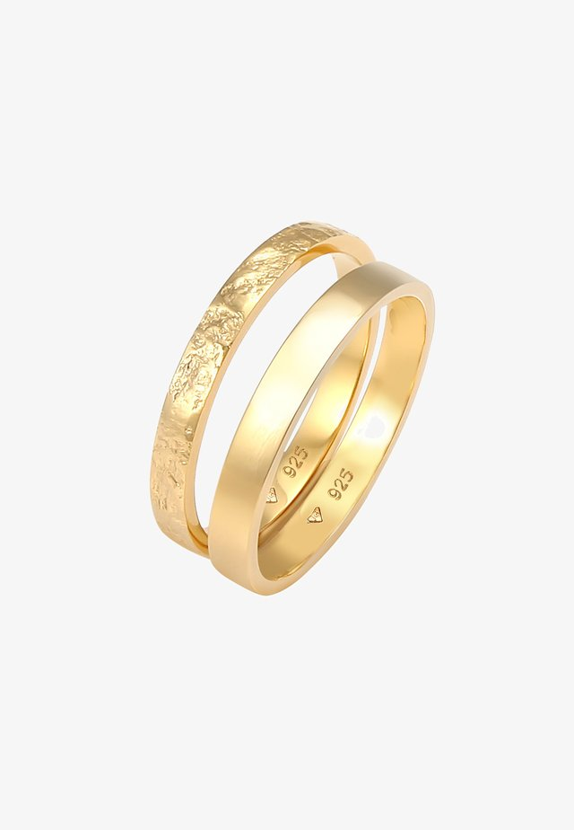 2ER SET - Ring - gold