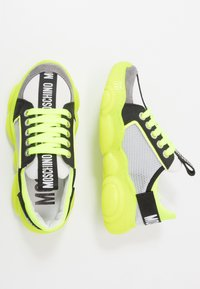 MOSCHINO - Trainers - grey/neon yellow - 0