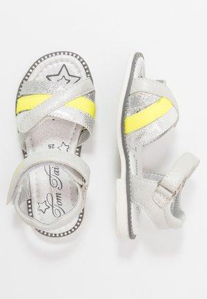 Sandals - white/neon yellow