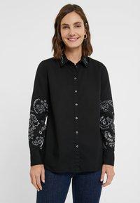 Desigual - CHIARA - Button-down blouse - black - 0