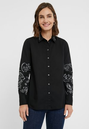 CHIARA - Button-down blouse - black
