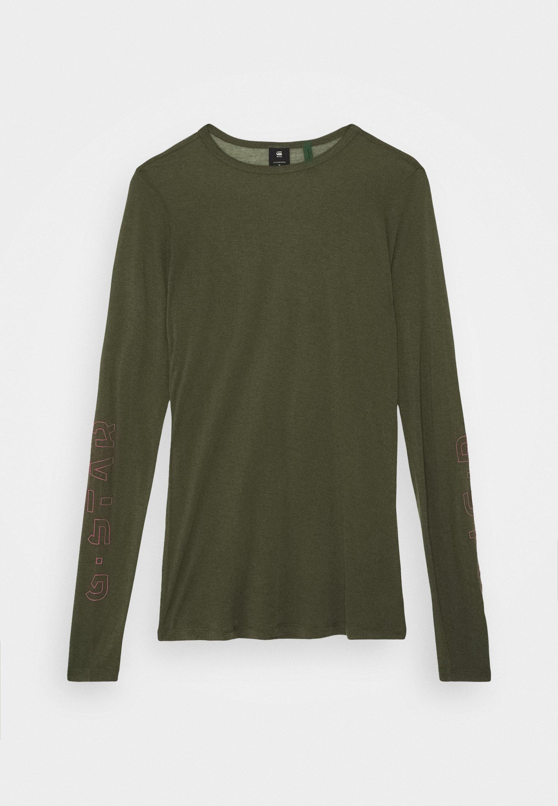 Women SHEER GRAPHIC SLIM FIT - Long sleeved top