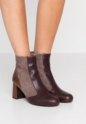MOIRA - Classic ankle boots - barna grape/humo/picasso bronce