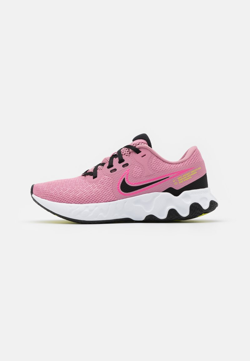 Nike Performance - RENEW RIDE 2 - Neutral running shoes - elemental pink/black/pink glow/cyber