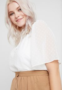 New Look Curves - DOBBY TIE DETAIL - Blouse - off white - 4