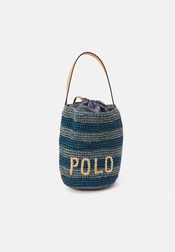 STRIPES BUCKET - Handbag - blue/multi
