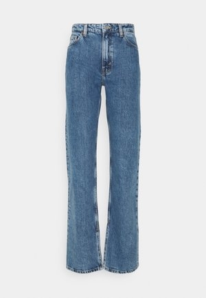 ELSIE SLIT TROUSERS - Jeans Straight Leg - thrift blue
