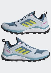 adidas Performance - TERREX AGRAVIC TR - Fjellsko - hazy blue/acid yellow/crystal white - 3