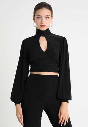 SLINKY TIE BACK HIGH NECK  - Långärmad tröja - black