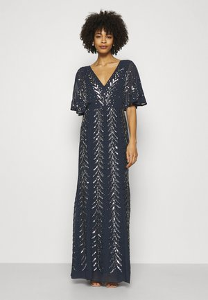 V NECK MAXI - Robe de cocktail - navy