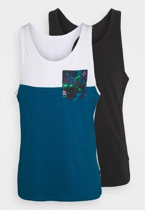 2 PACK - Top - blue/black