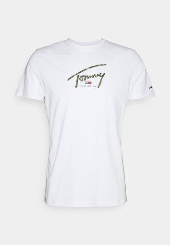 HAND WRITTEN LINEAR LOGO TEE - T-shirt con stampa - white