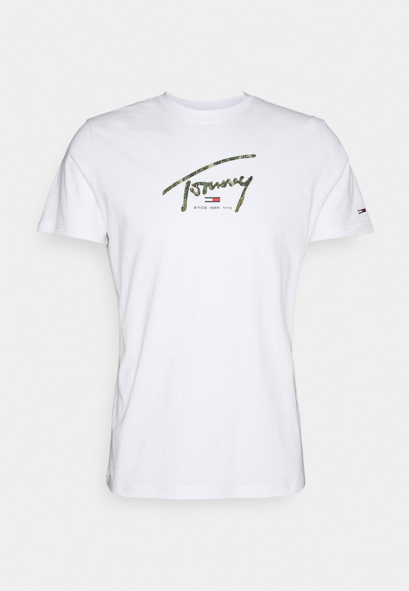 Tommy Jeans - HAND WRITTEN LINEAR LOGO TEE - T-shirt con stampa - white