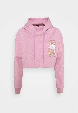 LOGO CROP HOODY - Sweatshirt - pink