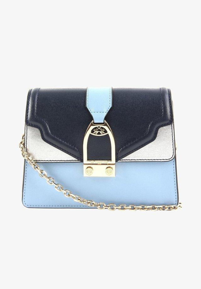 Across body bag - blue/dusty blue/steel