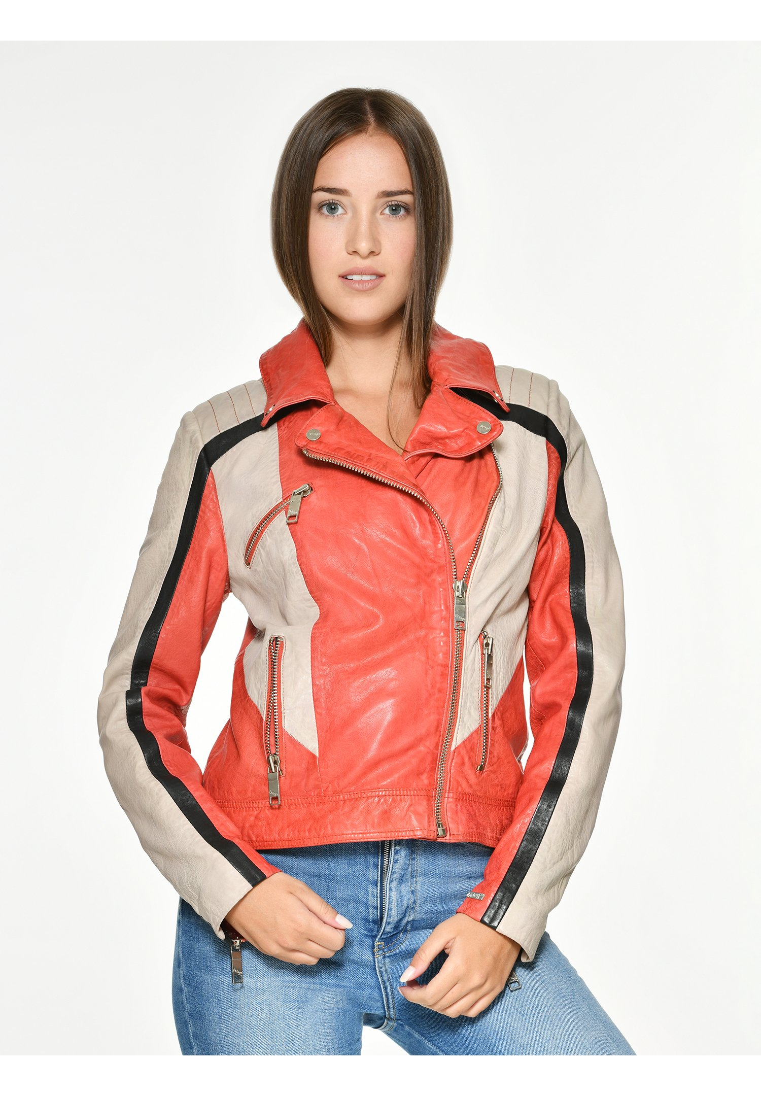 Rote Lederjacken für Damen online | Zalando