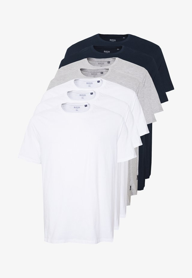 7 PACK - Basic T-shirt - navy
