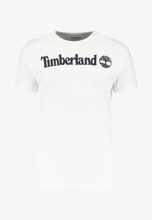 CREW LINEAR  - T-shirt z nadrukiem - white