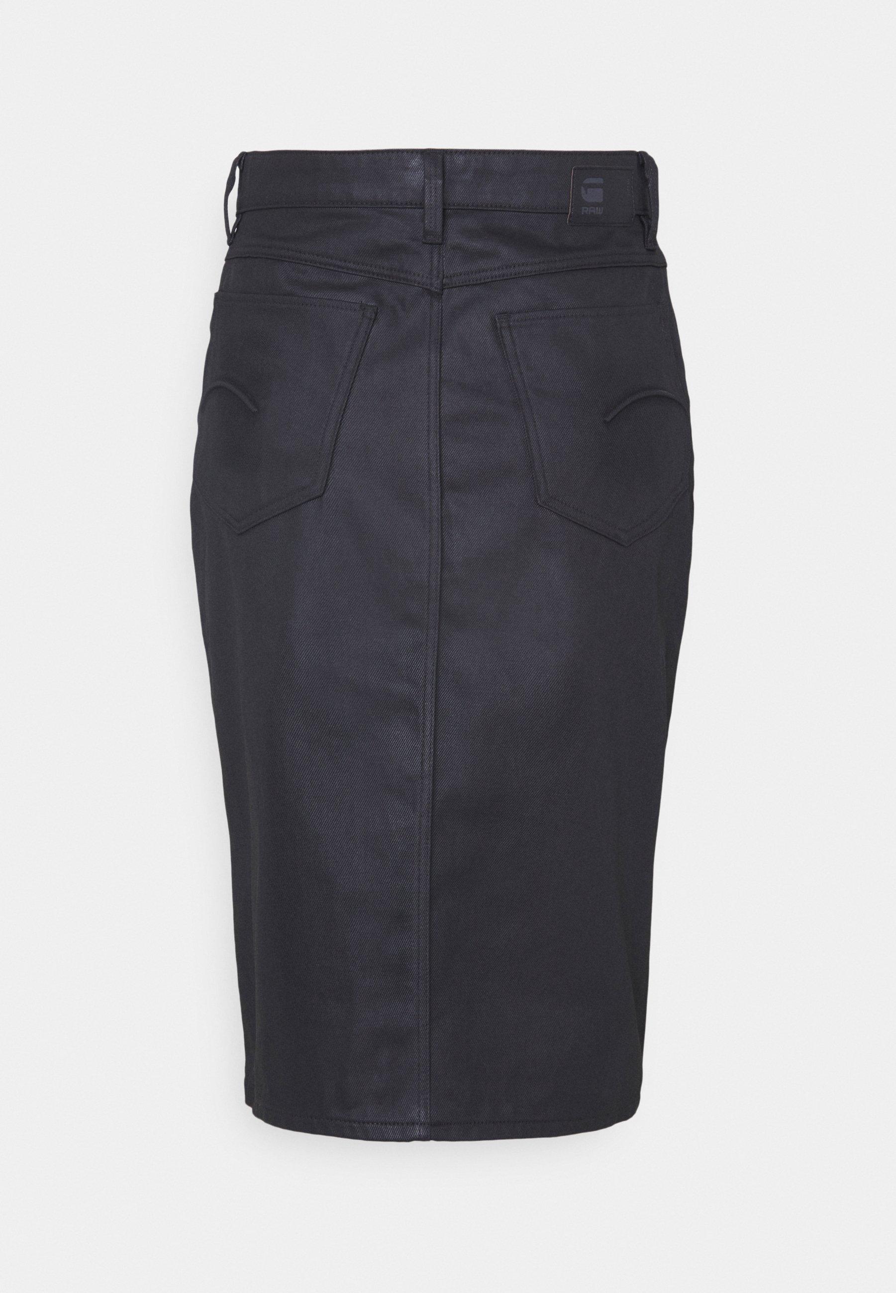 Women NOXER NAVY PENCIL BUTTON SKIRT - Pencil skirt