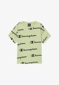 Champion - LEGACY AMERICAN CLASSICS CREWNECK - Print T-shirt - mint - 2
