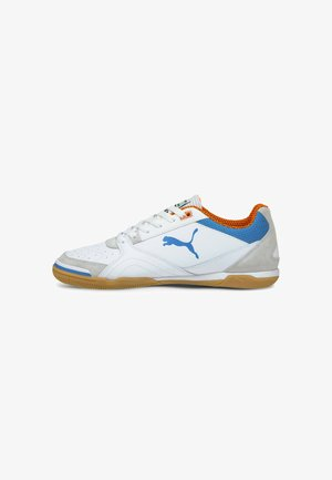 IBERO - Indoor football boots - white blue orange gum