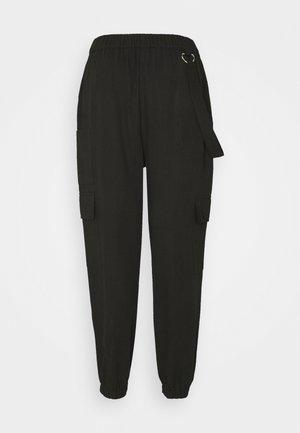 RING STRAP PANT - Trousers - black