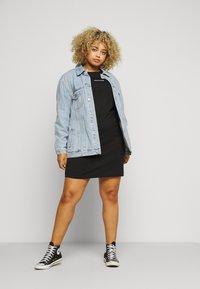 Calvin Klein Jeans Plus - PLUS TAPE DRESS - Jersey dress - black - 1