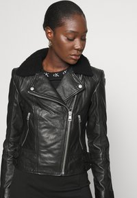 Calvin Klein Jeans - Leather jacket - black - 3