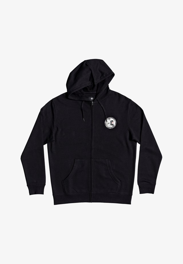 DIVIDE AND CONQUER  - Hoodie met rits - black