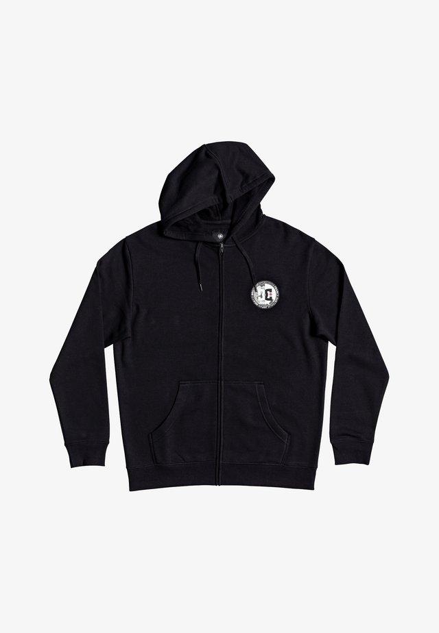 DIVIDE AND CONQUER  - veste en sweat zippée - black
