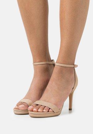 VEGAN MONROE - High heeled sandals - copper