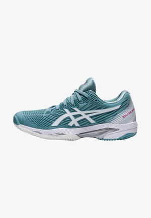 SOLUTION SPEED FF CLAY - Chaussures de tennis pour terre-battueerre battue - smoke blue/white