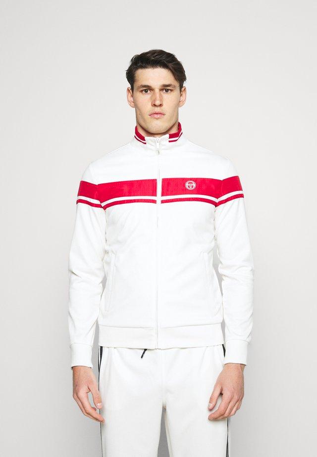 TRACKTOP YOUNGLINE - Sportovní bunda - blanc de blanc/tango red