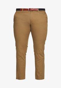 SLHSLIM YARD PANTS - Chinos - dark camel