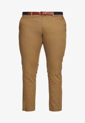 SLHSLIM YARD PANTS - Chino - dark camel