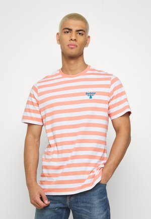 BOW STRIPE TEE - T-shirt med print - burnt coral