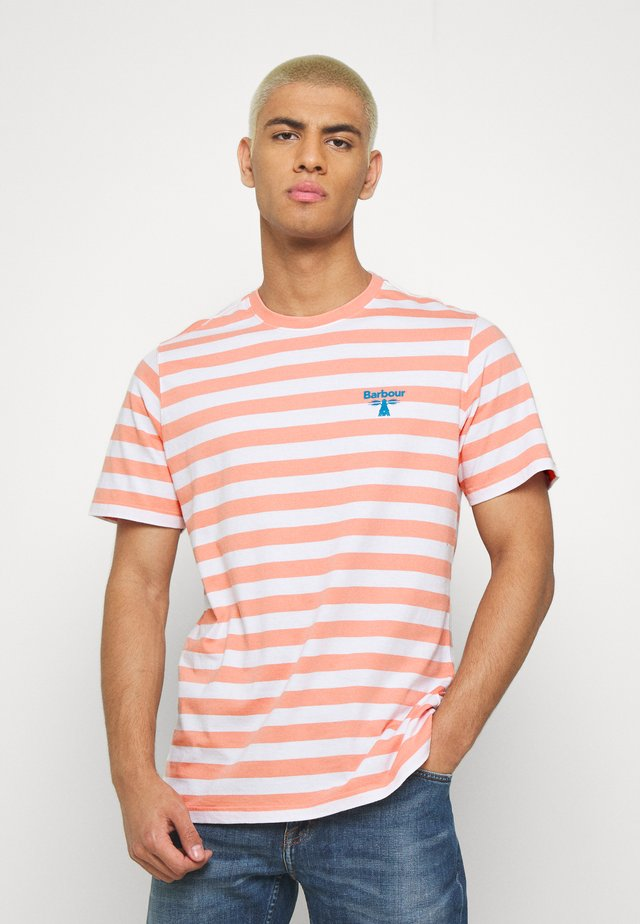 BOW STRIPE TEE - T-shirt z nadrukiem - burnt coral