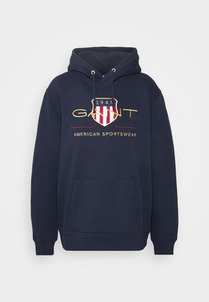 PLUS ARCHIVE SHIELD HOODIE - Luvtröja - evening blue