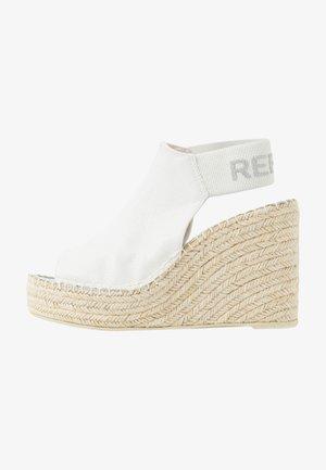 TYNE - High heeled sandals - white