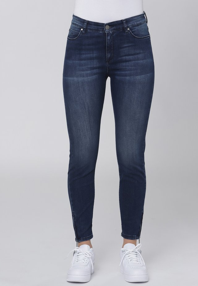 Slim fit jeans - dark blue w. use