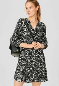 C&A - Day dress - black / white - 0